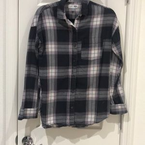 Old Navy Flannel Plaid Shirt XS
